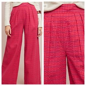 Anthropologie Checked Wide Leg Pants